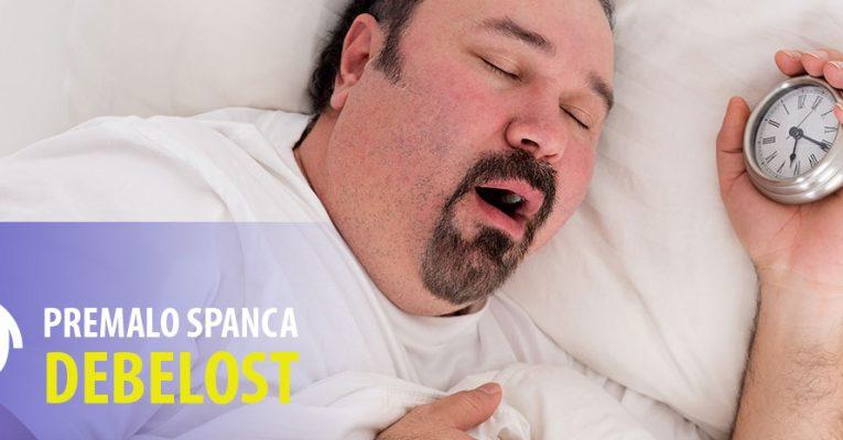 Premalo spanca povzroča prekomerno debelost